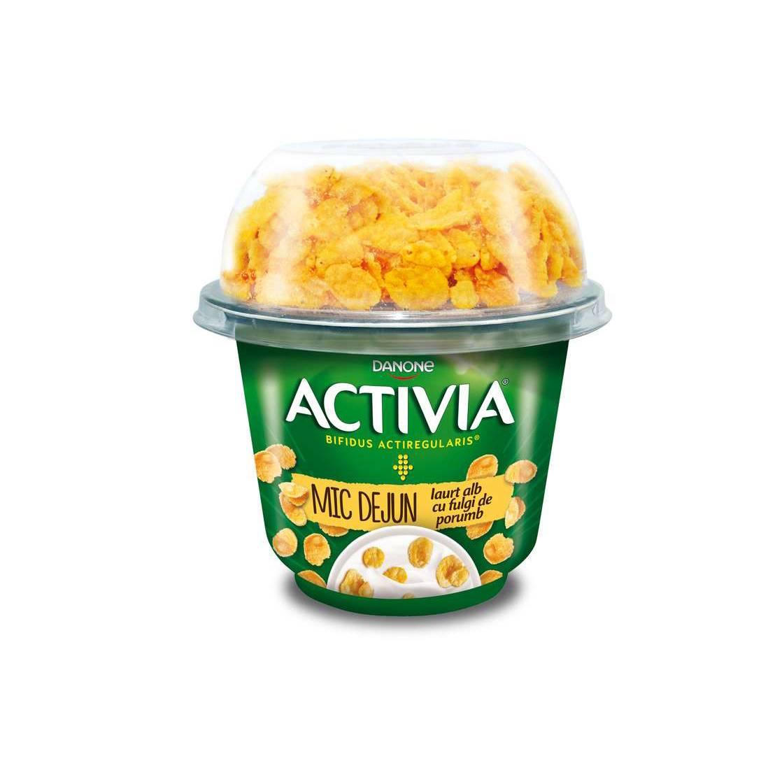 Iaurt Activia mic dejun  fulgi/porumb 3,0% 168g