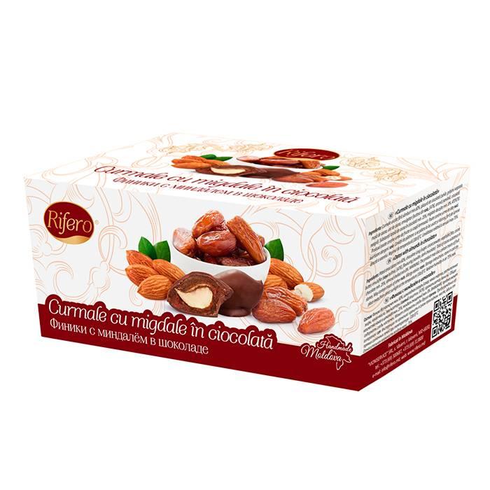 Curmale cu migdale in ciocolata  RIFERO, 200g