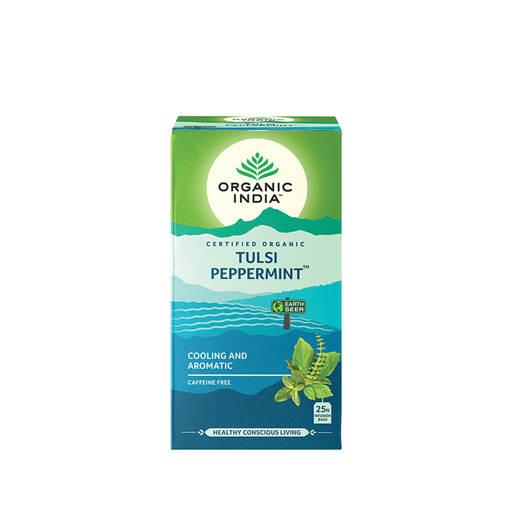 Ceai TULSI Peppermint 25p, Organic India