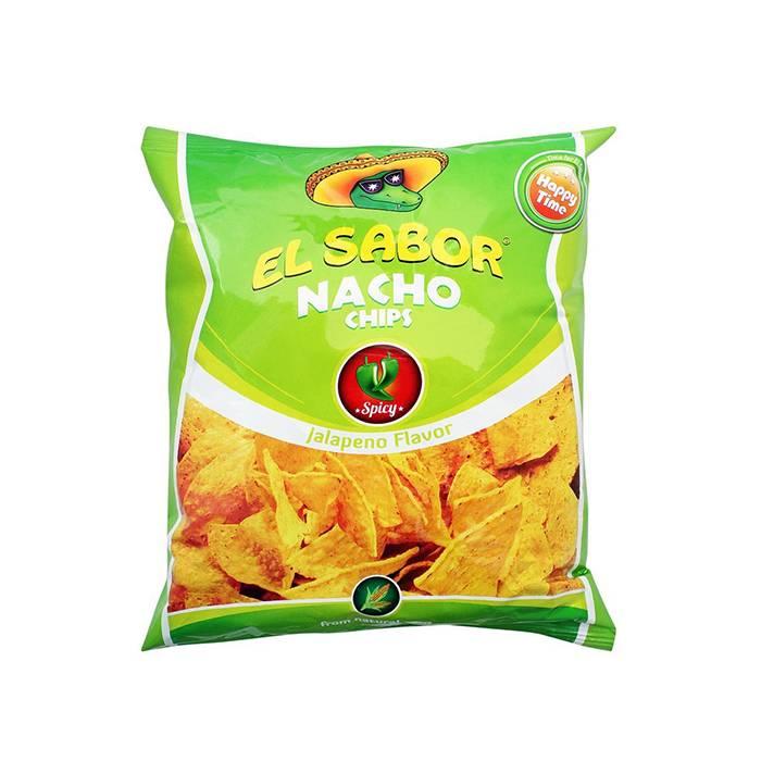 Chipsuri de porumb EL SABOR jalapeno 100g