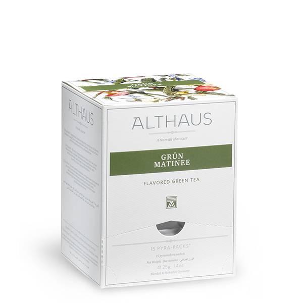 Ceai Althaus Pyra Pack Grun Matinee 15 pac, 41.25gr