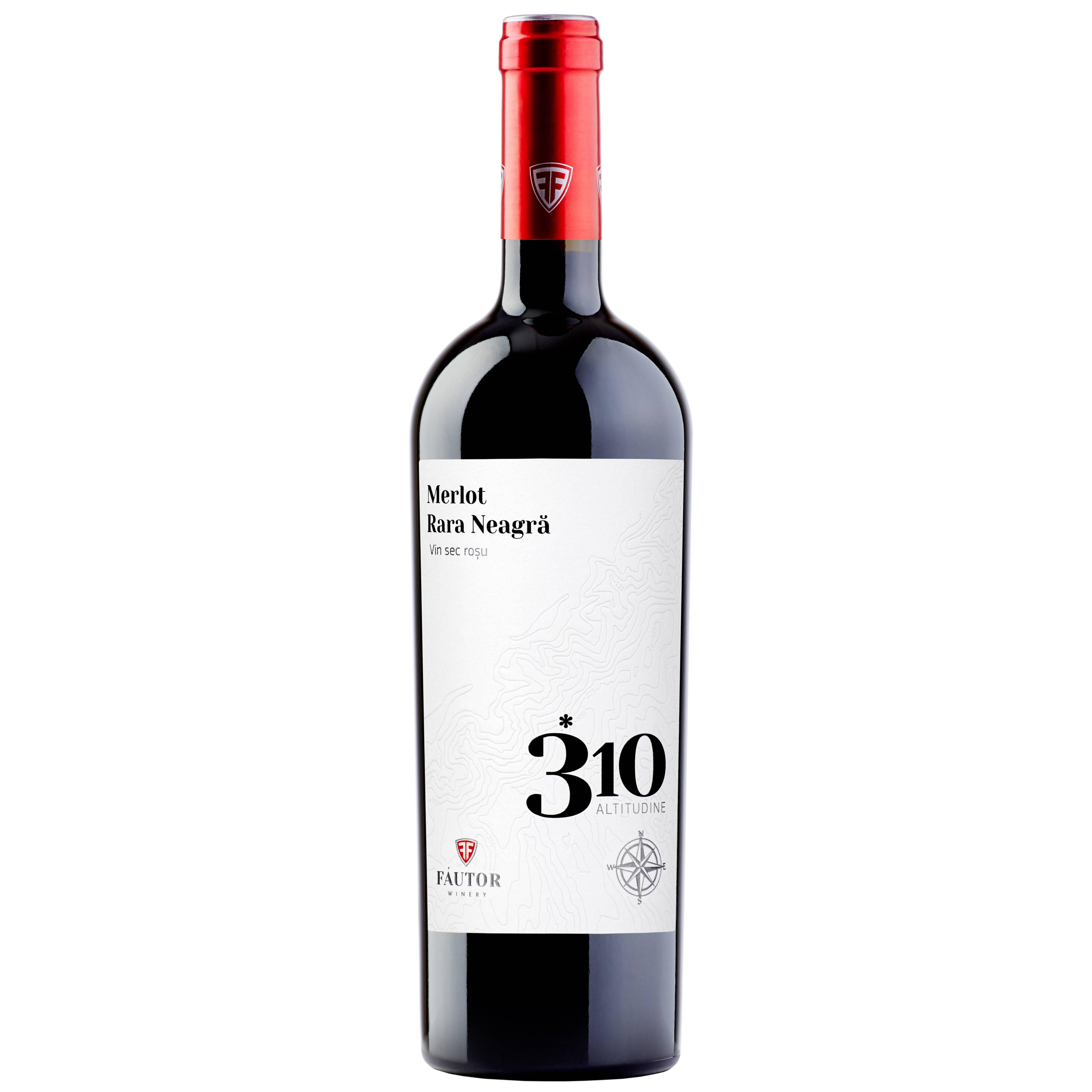 Вино FAUTOR Merlot - Rara Neagra 2016г  0,750 л