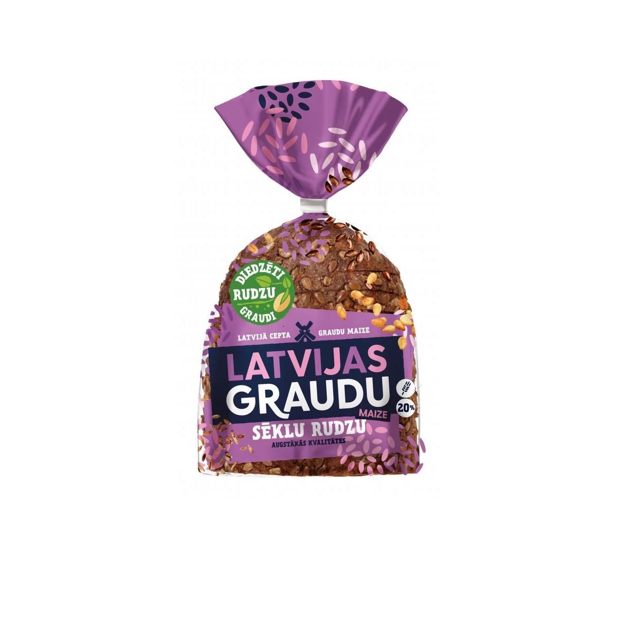 Piine de secara cu seminte si cereale LATVIJAS GRAUDU MAIZE, 390g