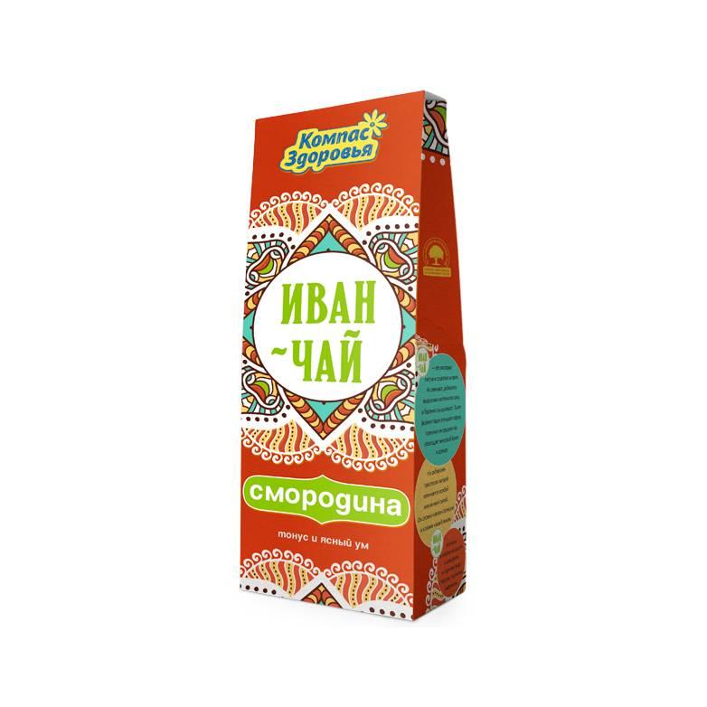 Чай для заваривания Иван-чай со смородиной, 60 гр.