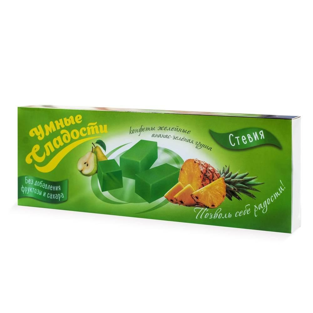 bomboane jeleu cu gust pere-ananas  stevia  90 gr
