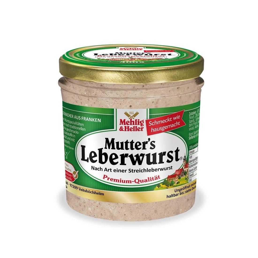 Carne inabusita cu ficat Premium Leberwurst 300g