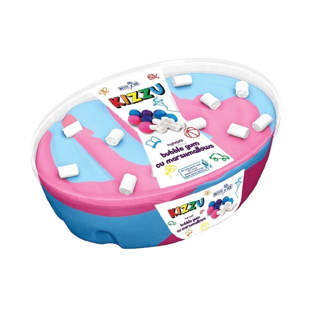 Inghetata KIZZU Bubble Gum cu marshmellows, 1000ml