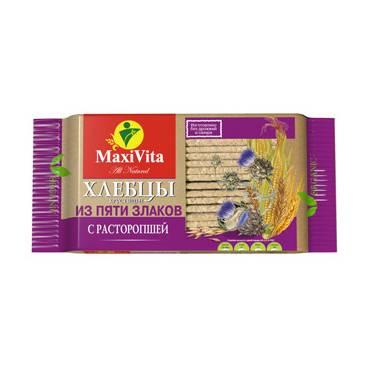 """Хрустящий хлеб 5 злаков с амарантом """"Макси Вита"""", 150 гр."""