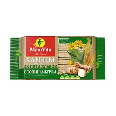 """Хрустящий хлеб из 5 злаков с топинамбуром """"Макси Вита"""", 150 гр."""