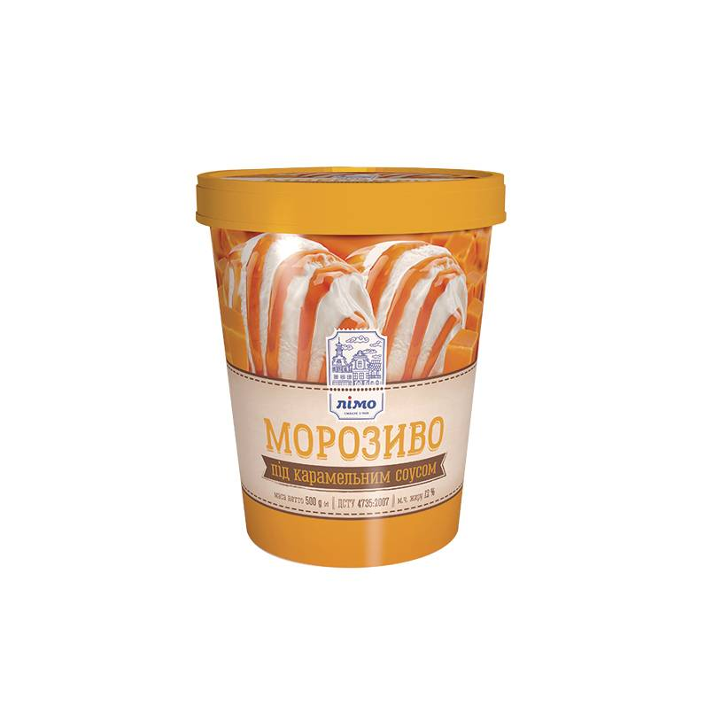 Мороженое с карамельной начинкой в ведре Limo 500 г