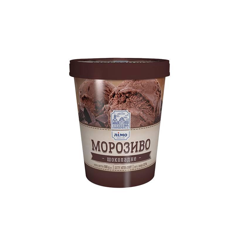 Шоколадное мороженое в ведре Limo 500 г