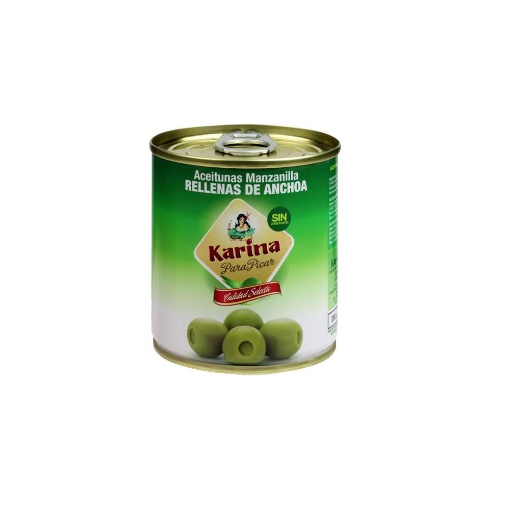 Оливки фаршированные анчоусом Karina 212 гр