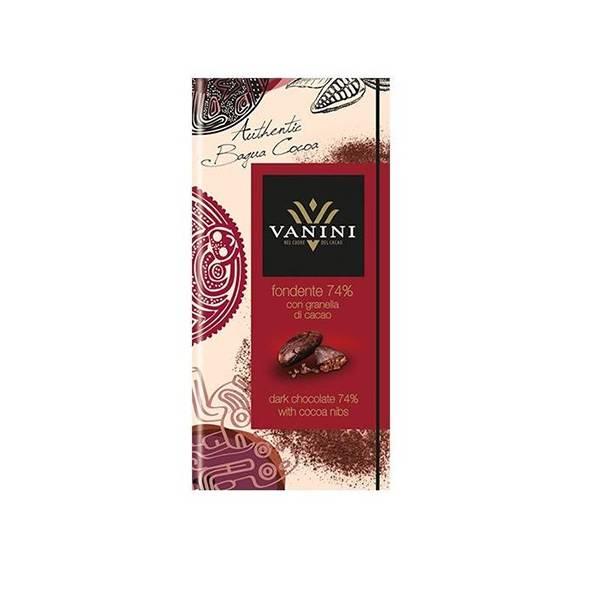 Vanini Ciocolata cu boabe de cacao 100g