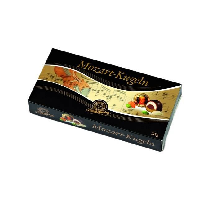 Bomboane de ciocolată cu martipan și fistic Mozart Henry Lambertz 200g