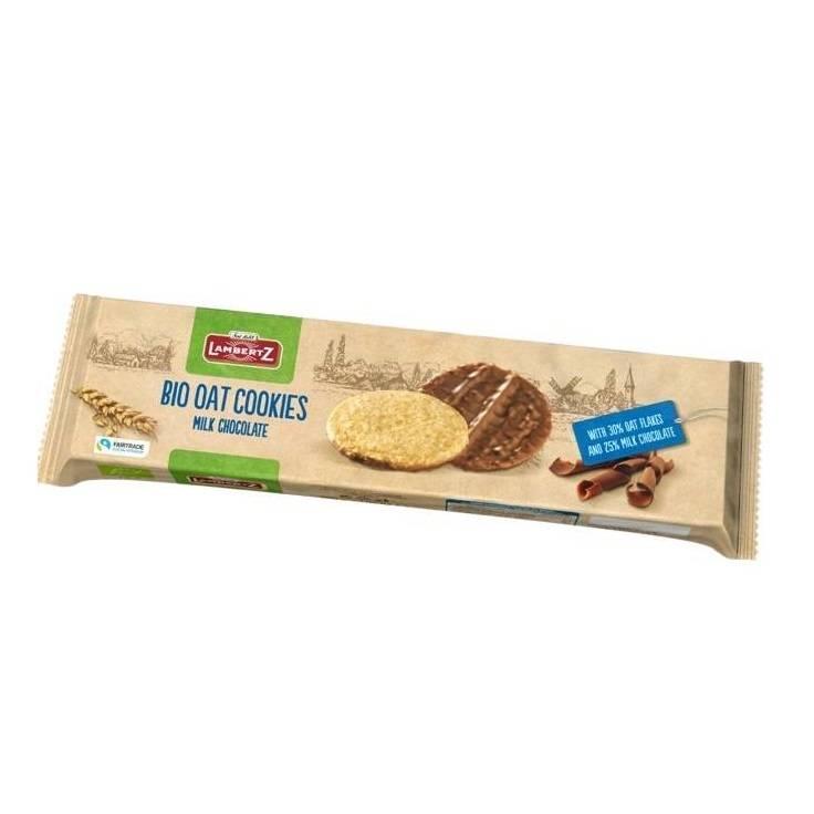 Biscuiți organici de ovăz în ciocolată Henry Lambertz-150g