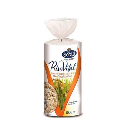 SCOTTI RISO VITAL  Рисовые канапе и смесь семян 100 гр/2/10