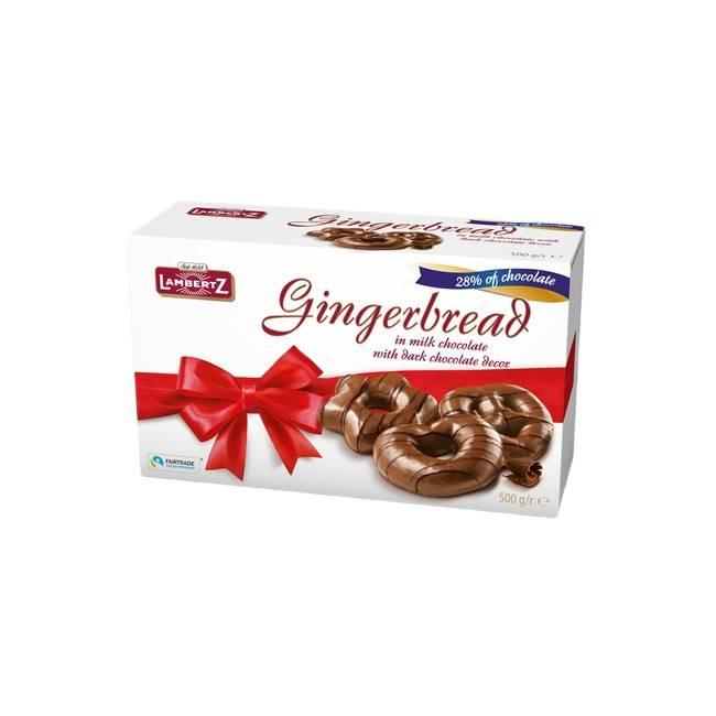 Turte de ghimbir în ciocolată de lapte Henry Lambertz 500g