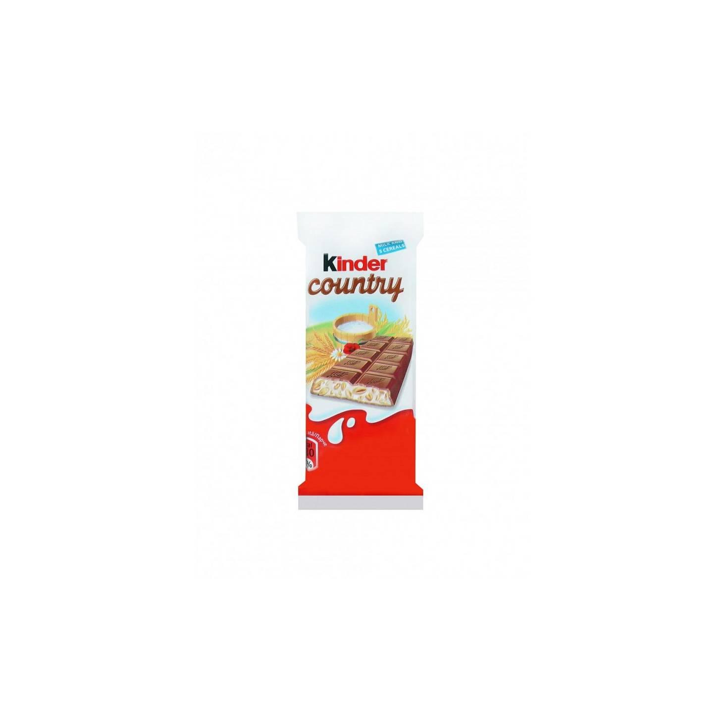Ciocolata cu lapte cu implutura de lapte si 5 cereale  Kinder Country, 23.5g