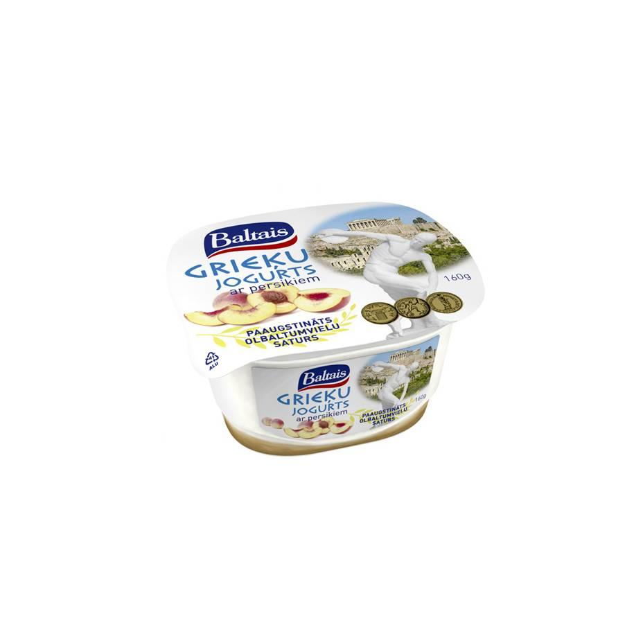 Baltais Греческий йогурт с персиком 1.6% 160 гр Латвия