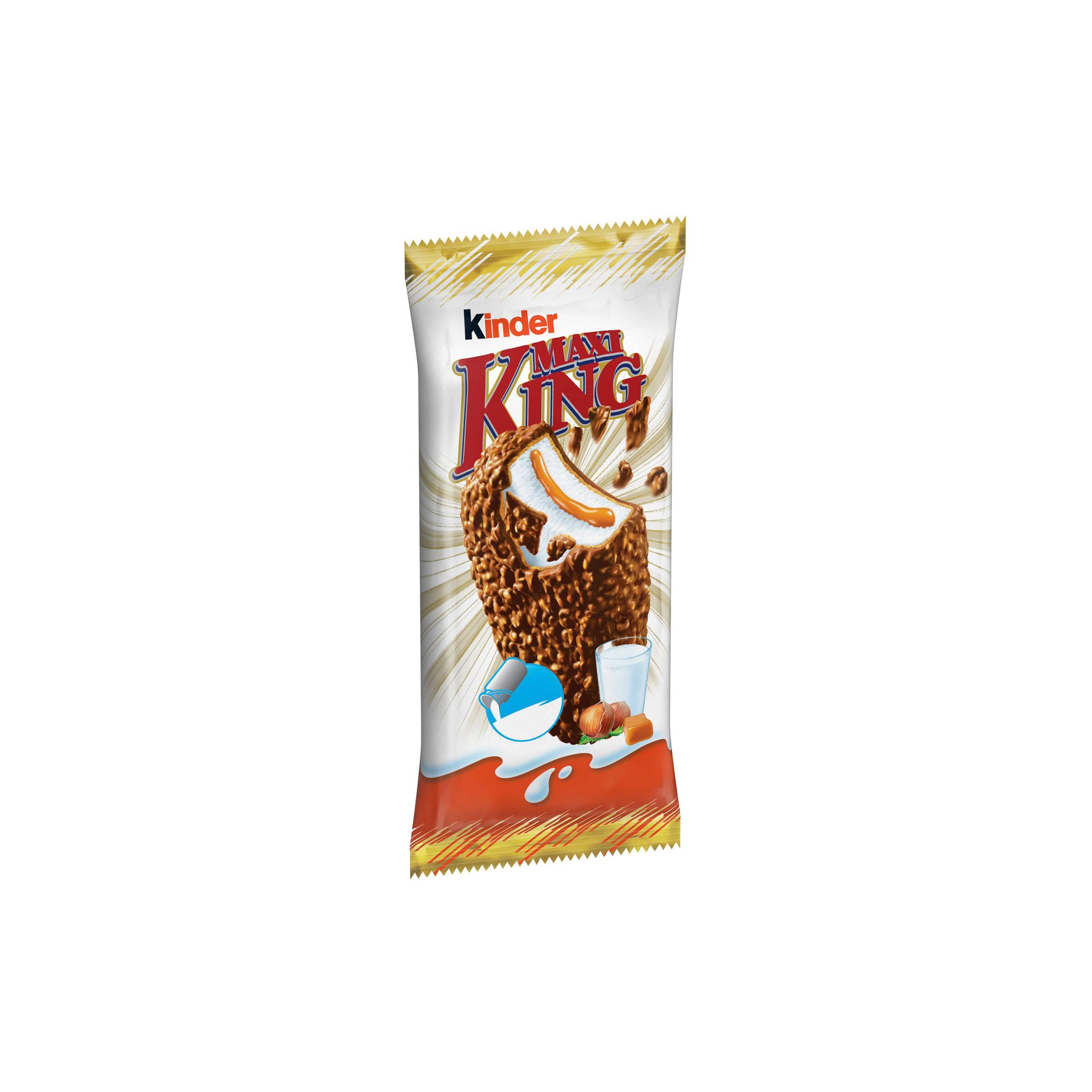 """Вафли с начинкой из сливок и карамели """"Kinder Maxi King"""", 35 гр"""