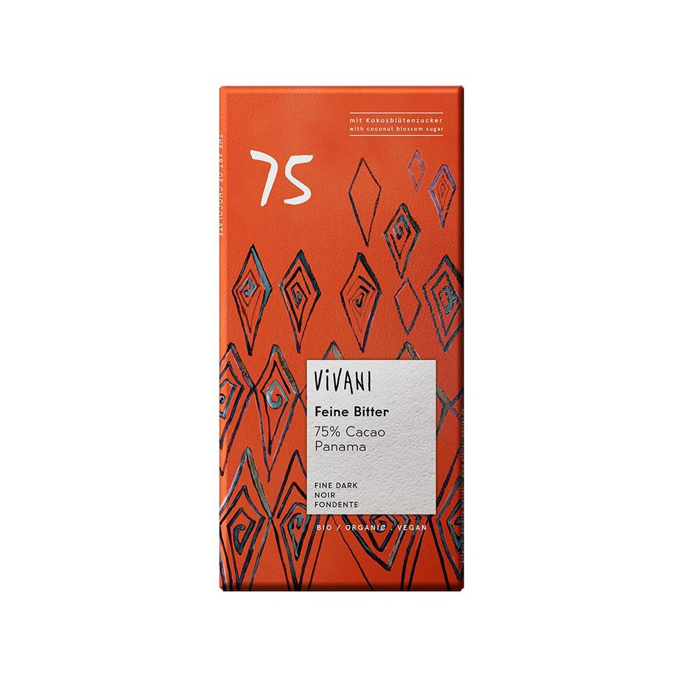 Ciocolată Vivani neagră 75% 80 g
