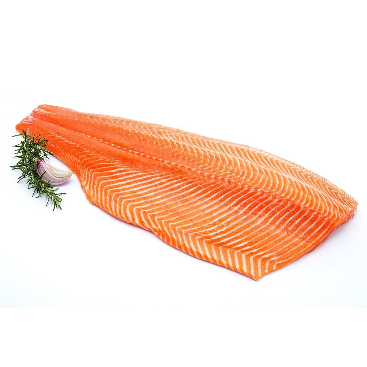 Охлажденное филе лосося