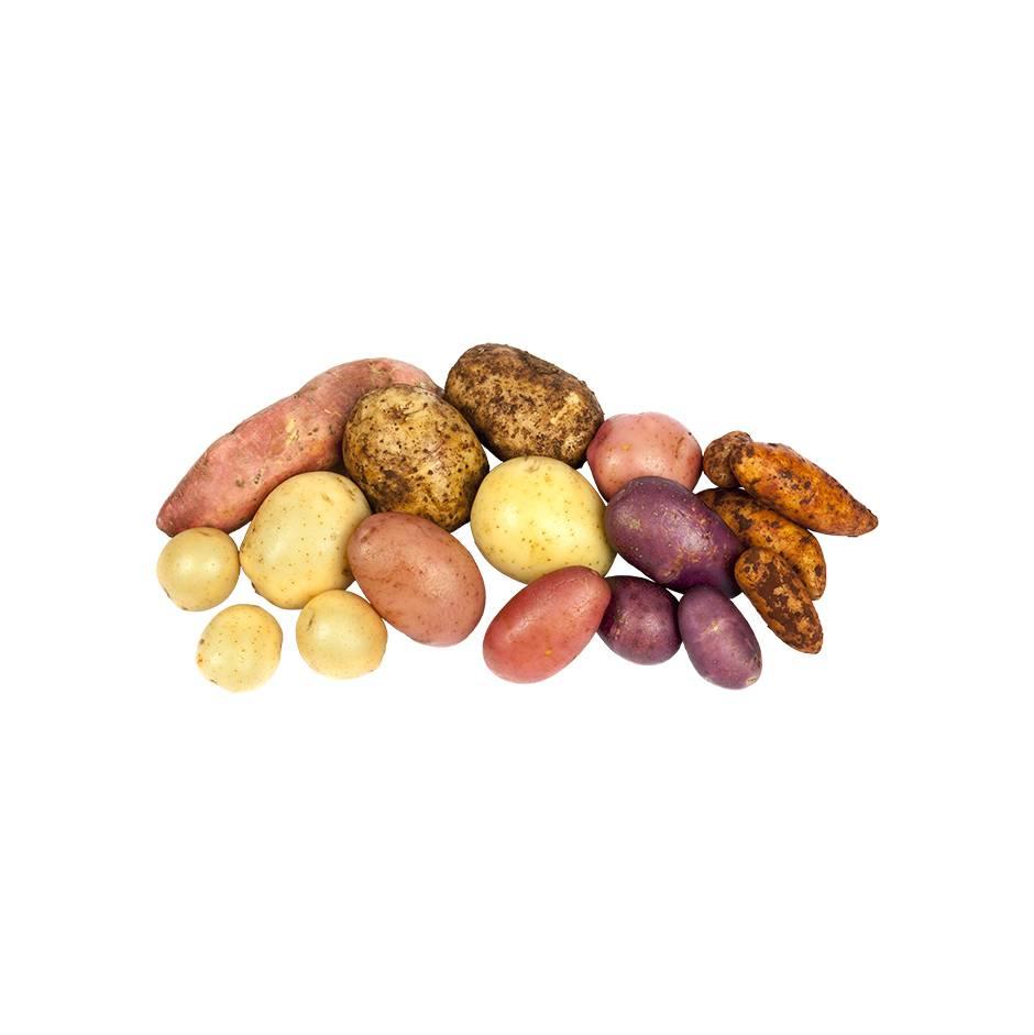 Картофель неочищенный на кг.