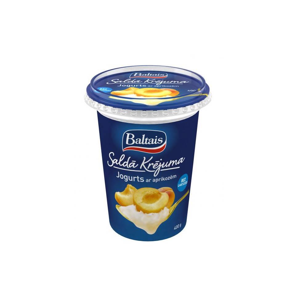 Сливочный абрикосовый йогурт без лактозы 400 гр