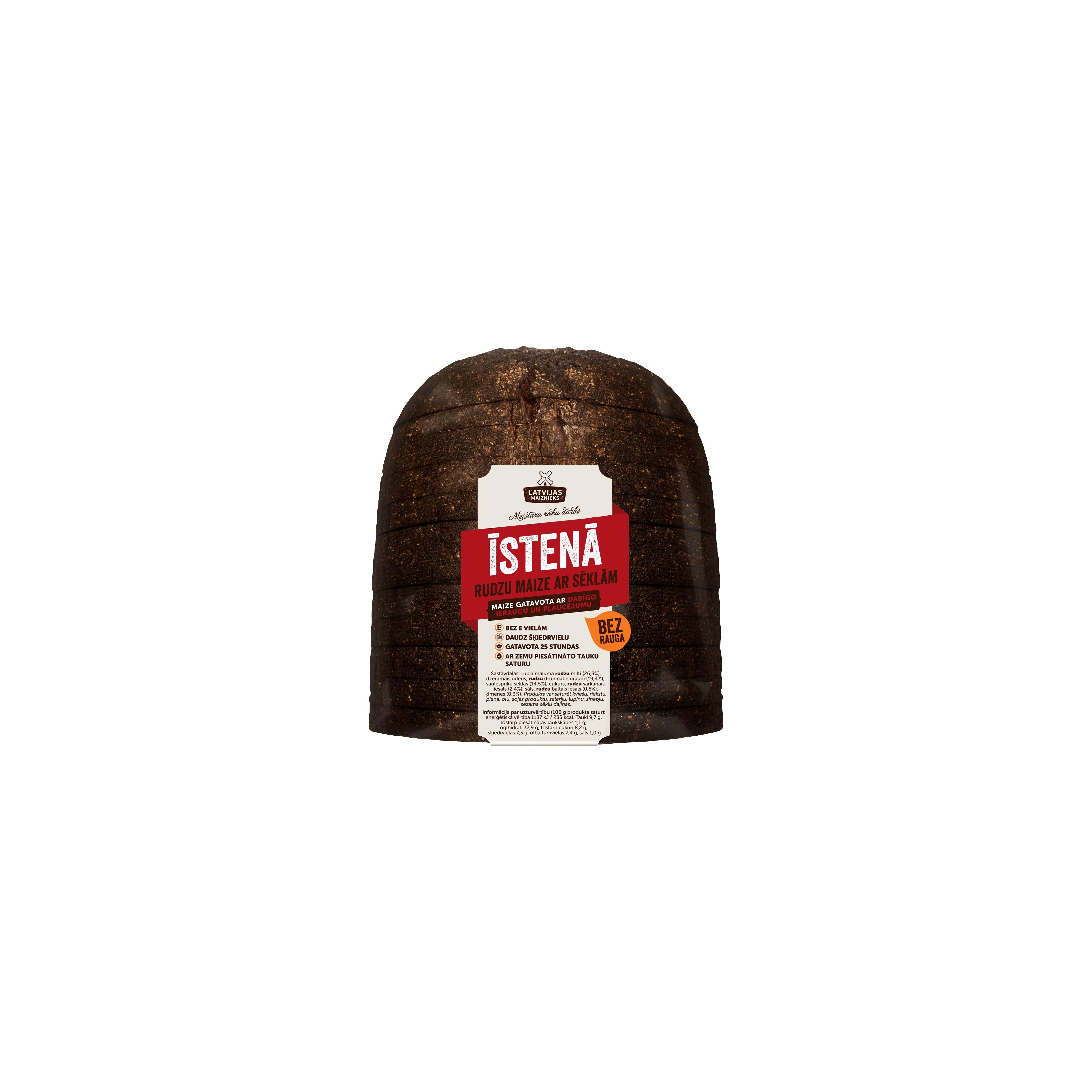 Ржаной хлеб  ISTENA с семечками без дрожжевой  730 гр